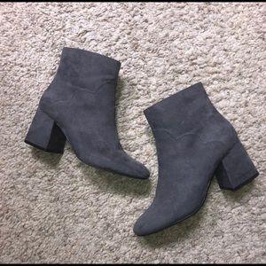 Zara Faux Suede Gray Booties Eur Size 35